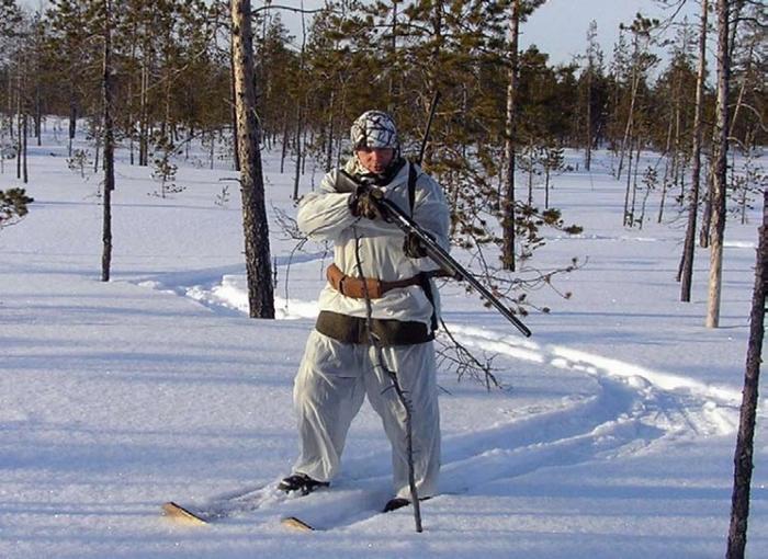 Выслеживание глухаря на лыжах