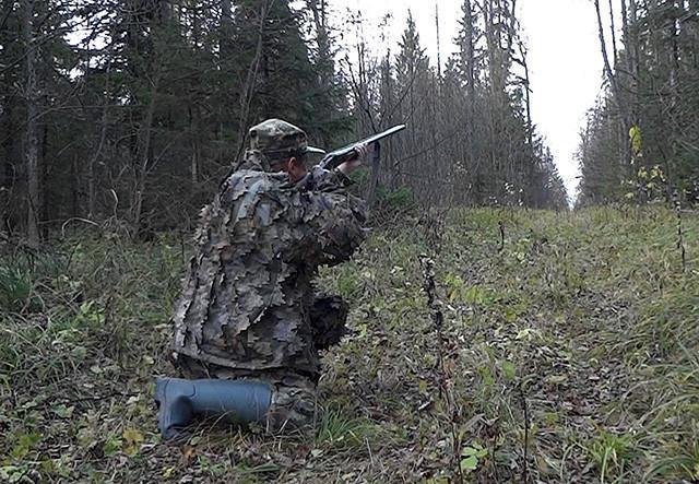 Выстрел при ходовой охоте на тетерева