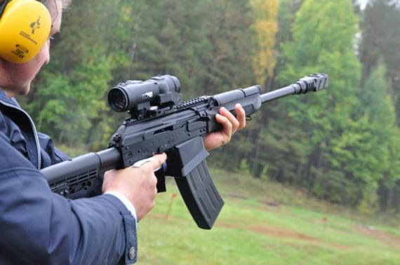 Стрельба с Сайги-12