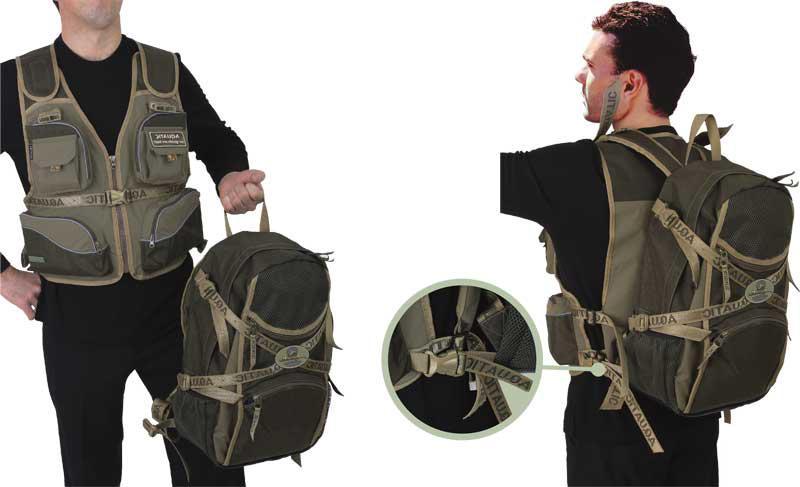 Охотничий жилет с рюкзаком