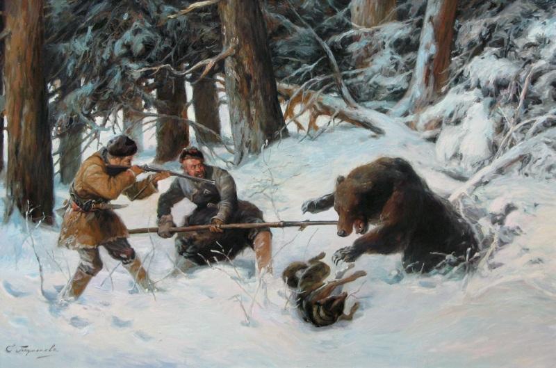 Групповая охота с рогатиной