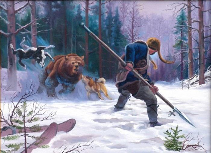 Внезапное нападение медведя