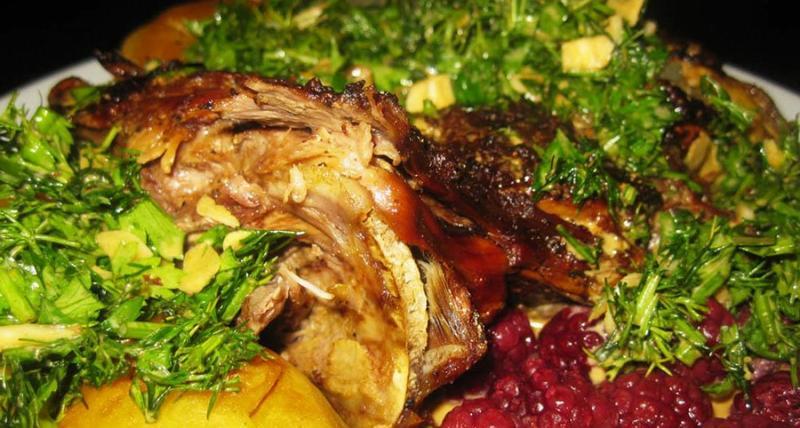 Мясо из бобра в духовке