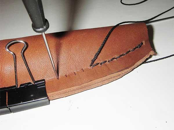 Прошивка кожаных ножен
