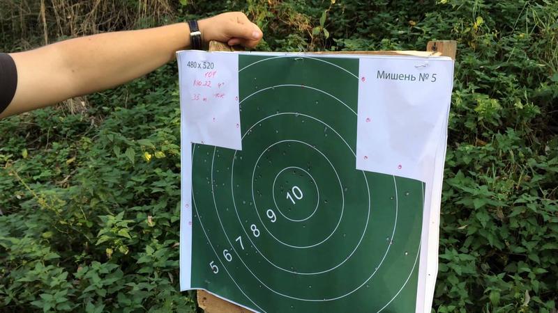 Проверка кучности стрельбы