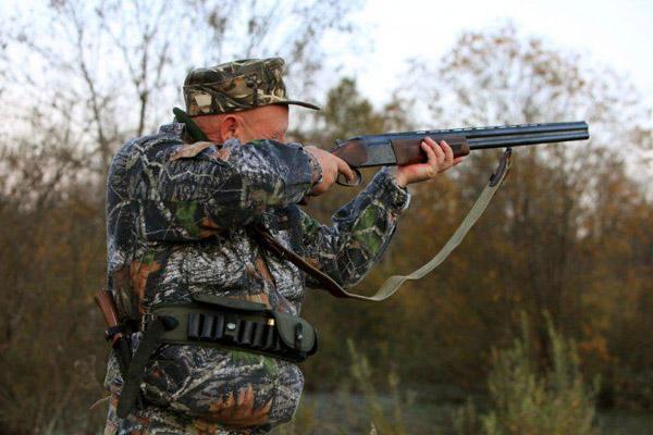 Пристрелка ружья в охотничьем угодье