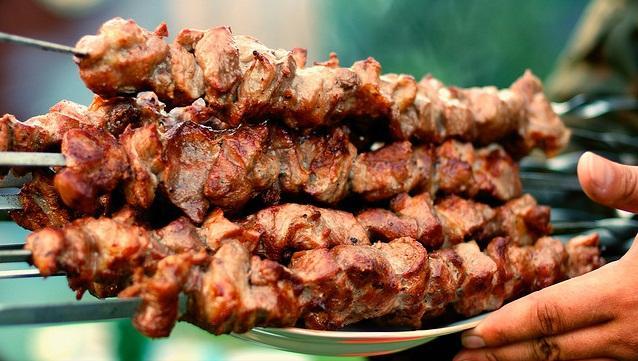 Шашлык из мяса барсука