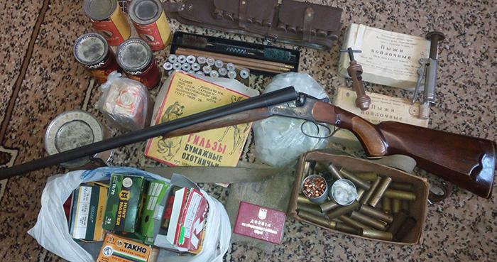 Ружье 16-го калибра и патроны к нему